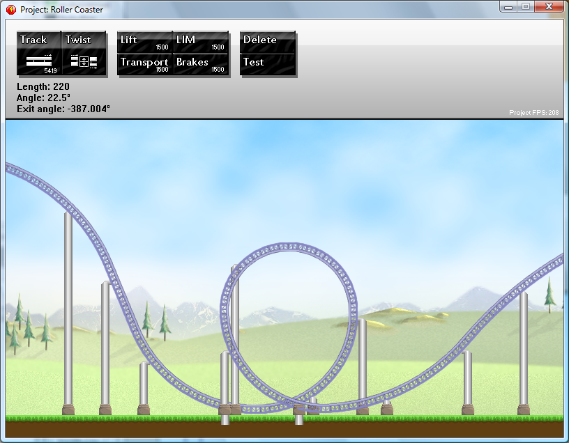 Rollercoaster Building Flash Game